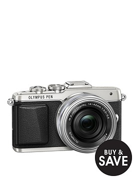 olympus-pen-e-pl7-camera-with-ed-14-42-mm-mzuiko-ez-pancake-lens-kit-silver