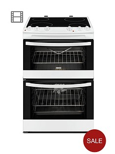 zanussi-zcv68010wa-60cm-electric-freestanding-double-oven-white