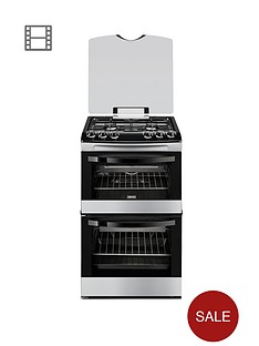 zanussi-zcg43000xa-55cm-gas-freestanding-double-oven-stainless-steel