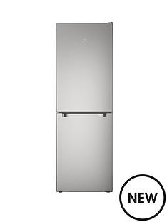 indesit-ld70n1s-60-cm-frost-free-combi-fridge-freezer-18m-silver