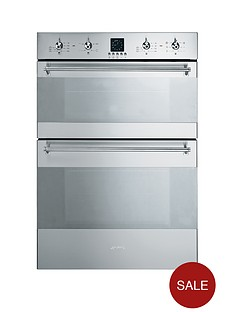 smeg-dosc36x-60cm-built-in-double-electric-oven-stainless-steel