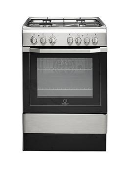 Indesit I6G52X 60Cm Single Oven Dual Fuel Cooker With Gas Hob  Stainless Steel
