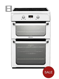 hotpoint-hui612p-60-cm-double-oven-electric-cooker-with-induction-hob