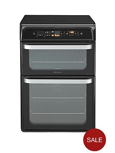hotpoint-hui62tk-60-cm-double-oven-electric-cooker-with-induction-hob