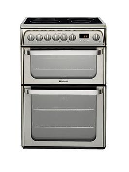 hotpoint-ultima-hui611x-60-cm-double-oven-electric-cooker-with-induction-hob-stainless-steel