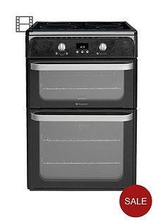 hotpoint-hui612k-60cm-double-oven-induction-cooker-black