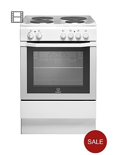 indesit-i6evaw-60cm-single-oven-electric-cooker-white
