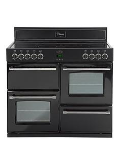 belling-classic-100e-100cm-electric-range-cooker-with-connection-black