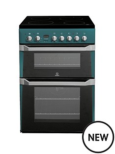 indesit-id60c2n-60-cm-electric-cooker-double-oven-with-ceramic-hob-green