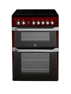 indesit-id60c2r-60-cm-electric-cooker-double-oven-with-ceramic-hob-red