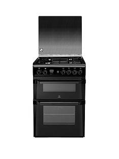 indesit-id60g2k-60-cm-gas-cooker-double-oven-black