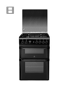 indesit-id60g2k-60cm-double-oven-gas-cooker-with-fsd-black