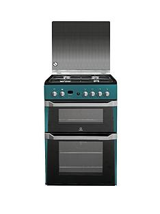 indesit-id60g2n-60-cm-gas-cooker-double-oven-green