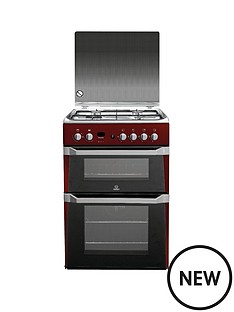 indesit-id60g2r-60-cm-gas-cooker-double-oven-red