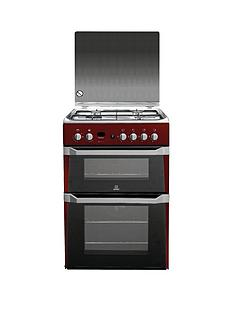 indesit-id60g2r-60cm-double-oven-gas-cooker-with-fsd-red