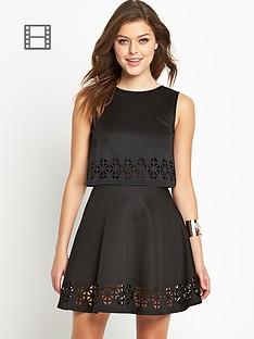 club-l-laser-cut-overlay-dress