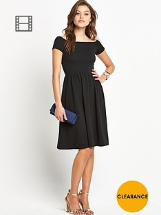 club-l-crepe-bardot-dress