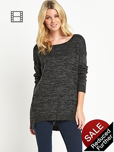 firetrap-two-colour-twisted-knitted-jumper