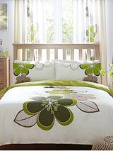 Candice Duvet Cover Set - Green
