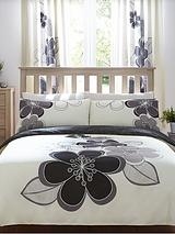 Candice Duvet Cover Set - Black