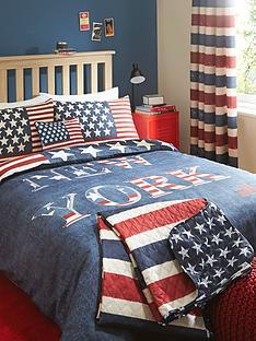 catherine-lansfield-new-york-stars-n-stripes-bedding-range