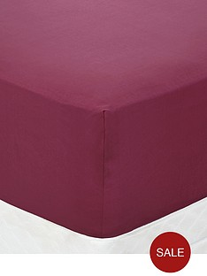 non-iron-percale-180-thread-count-extra-deep-fitted-bed-sheet