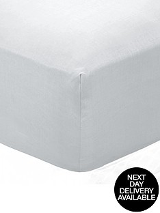non-iron-percale-180-thread-count-extra-deep-fitted-bed-sheet-32cm-depth