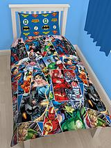 Justice League Reversible Single Duvet Cover Set