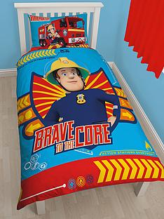fireman-sam-brave-panel-single-duvet-cover-set