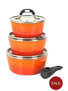 salter-4-piece-saucepan-set-with-detachable-handle-orange