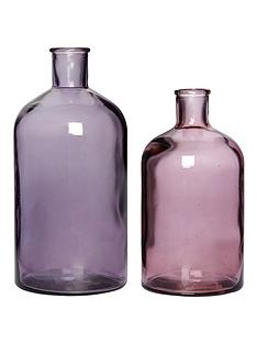 decorative-recycled-glass-bottles-set-of-2