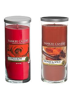 yankee-candle-large-pillar-collection-honey-and-spice-and-true-rose-duo