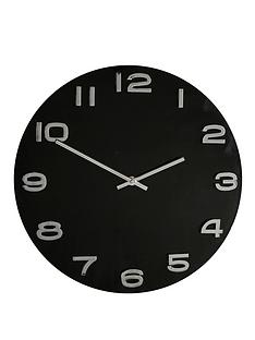 glass-wall-clock-black