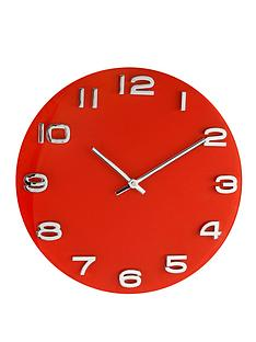 glass-wall-clock-red