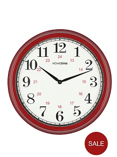 station-clock-red