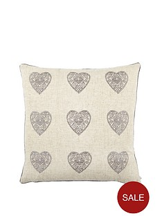 catherine-lansfield-vintage-hearts-cushion-silver