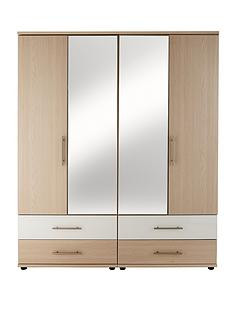 consort-putney-4-door-4-drawer-mirrored-wardrobe