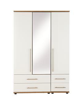 consort-kenton-3-door-4-drawer-mirrored-wardrobe