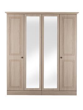 consort-willow-4-door-wardrobe-with-mirror-light-oak