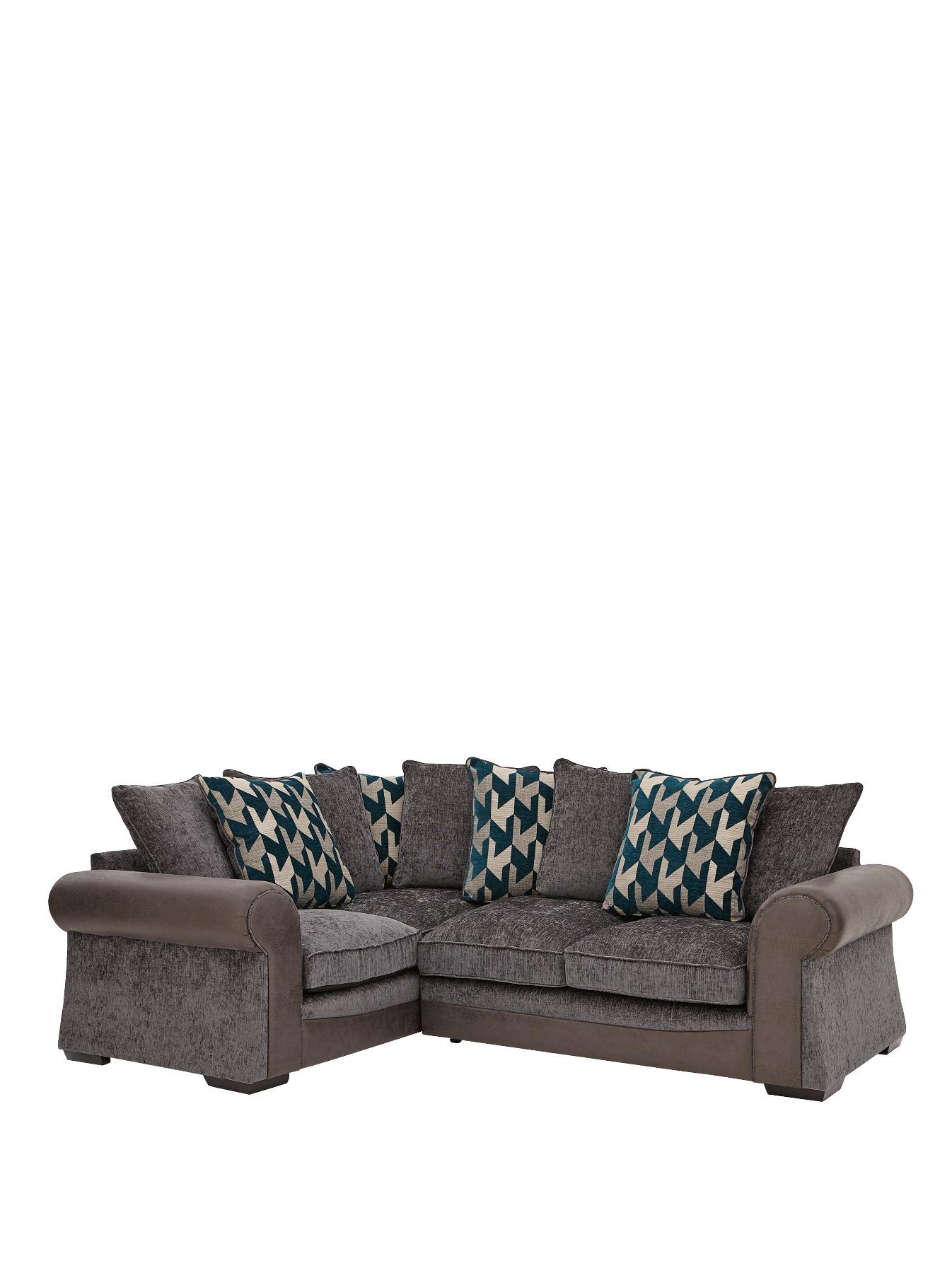 Escala Left Hand Corner Group Sofa GreyChocolate