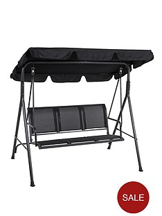 honolulu-3-seater-hammock-black