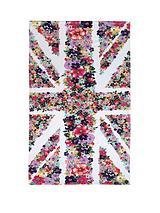 Floral Union Jack Beach Towel