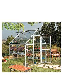 palram-harmony-6-x-4ft-greenhouse-silver