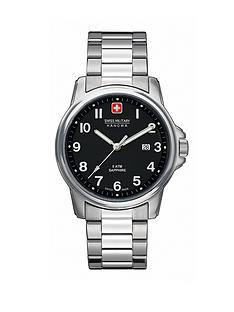 swiss-military-black-dial-stainless-steel-mens-watch