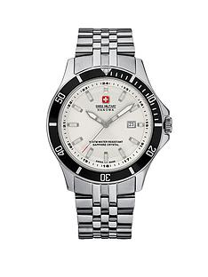 swiss-military-white-dial-stainless-steel-mens-watch