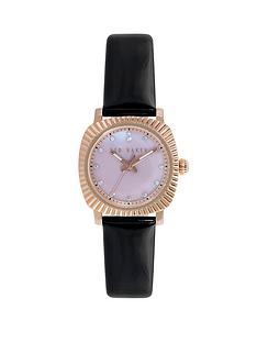 ted-baker-rose-gold-black-patent-leather-strap-ladies-watch