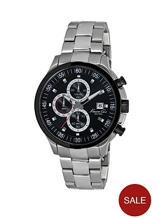 kenneth-cole-black-chronograph-dial-stainless-steel-bracelet-mens-watch