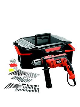 black-decker-cd714ast2-gb-710-watt-corded-hammer-drill-with-160-accesssories
