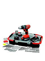 EGBL18BAST-GB 18-volt Lithium Ion Drill Driver with 2 Batteries, 165 Accessories and Kitbox