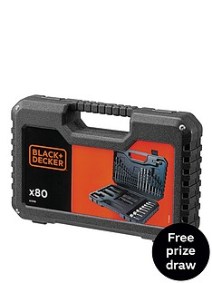 black-decker-a7219-xj-80-piece-drilling-and-screw-driving-set-with-kitbox-free-prize-draw-entry